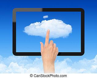 概念, 仕事, 雲, 計算