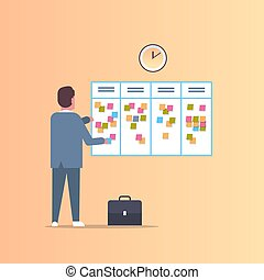 概念, 付せん, 計画, スケジューリング, 毎週, 板, タイムテーブル, メモ, ミーティング, でき事, 平ら, 彼の, ビジネス, スケジュール, ニュース, 仕事, フルである, メモ, 仕事, 長さ, 議題, ビジネスマン