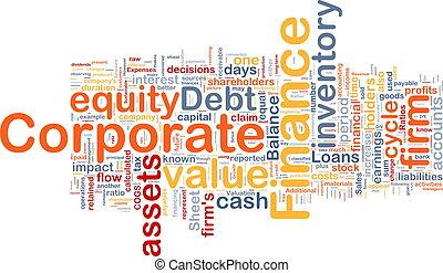 概念, 企業金融, 背景