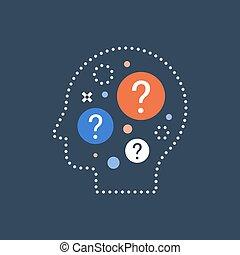 概念, 作成, 決定, 質問, 科学, 選択, 好奇心, 行動, 自己, 困難