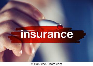 概念, 保険, ビジネス