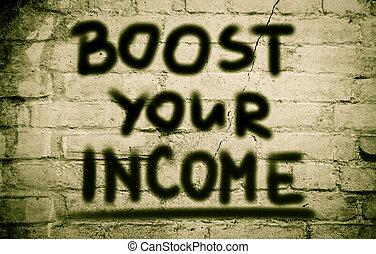概念, 倍力, あなたの, 収入