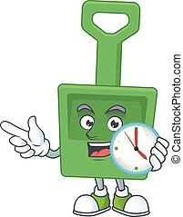 概念, 円, バケツ, 緑, 図画, 時計, 漫画, 砂