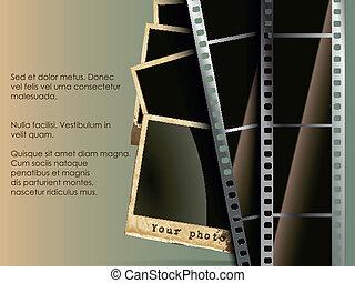 概念, 写真, フィルム, 背景