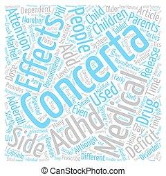概念, 利益, テキスト, concerta, 効果, 背景, 単語, 側, 雲