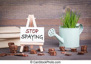 概念, 利益, 止まれ, spaying, 経済, 戦略