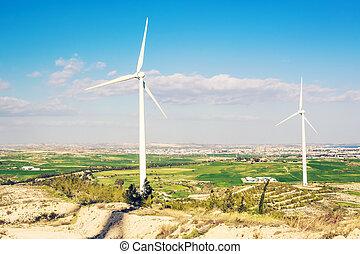 概念, 力, eco, エネルギー, 選択肢, タービン, 風