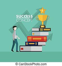 概念, 勝者, 成功, カード