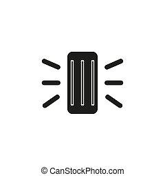 概念, 単純である, 助手, 要素, 線, icon., 痛みなさい