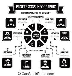 概念, 単純である, 専門職, infographic, スタイル