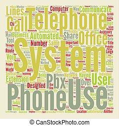 概念, 単語, オフィス, テキスト, 電話, システム, 背景, 雲