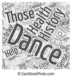概念, 単語, ダンス, 健康, あなたの, 雲
