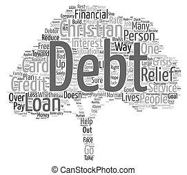概念, 単語, テキスト, christians, 背景, 負債, 雲, 救助