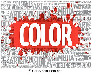 概念, 単語, ビジネスの色, 創造的, 雲