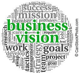 概念, 単語, ビジネス, タグ, 雲, ビジョン