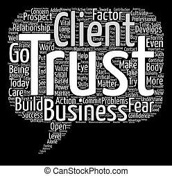 概念, 単語, ビジネス, テキスト, いかに, 背景, factor, 耕しなさい, 信頼, 雲