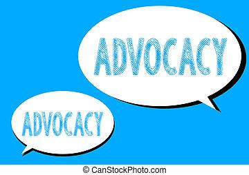 概念, 単語, ビジネス, テキスト, 提唱者, 専門職, 法的, 執筆, advocacy., 弁護士, 推薦, 仕事...