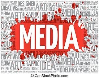 概念, 単語, ビジネス, 媒体, 創造的, 雲