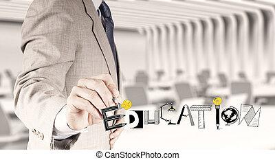 概念, 単語, ビジネス, 手,  grphic, デザイン, 教育, 図画