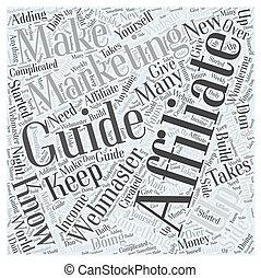 概念, 単語, マーケティング, あなたの, affiliate, ガイド, 雲