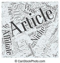 概念, 単語, マーケティング, ニュースレター, affiliate, 雲
