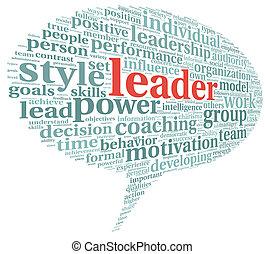 概念, 単語, リーダー, 雲, タグ