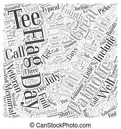 概念, 単語, ワイシャツ, 旗, アメリカ人, t, 雲