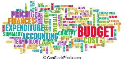 概念, 単語, 予算, 雲