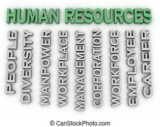 概念, 単語, 人間, イメージ, 問題, 資源, 背景, 雲, 3d
