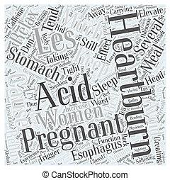 概念, 単語, 再不安定, 妊娠, 酸, 雲