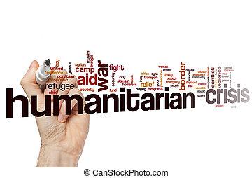 概念, 単語, 危機, 雲, 人道主義者