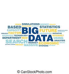 概念, 単語, 大きい, タグ, データ, 雲
