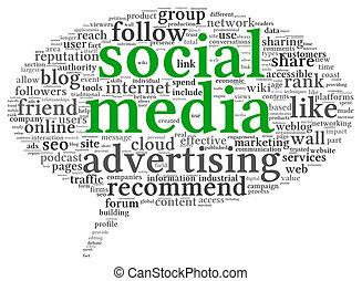 概念, 単語, 媒体, タグ, 広告, 社会, 泡, 考えなさい, 雲