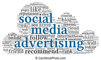 概念, 単語, 媒体, タグ, 広告, 社会, 雲