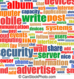 概念, 単語, 媒体, 社会, タグ, 背景, インターネット, cloud.