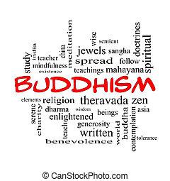 概念, 単語, 帽子, 仏教, 雲, 赤