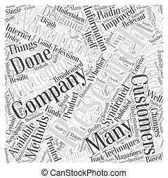 概念, 単語, 広告, 雲, 研究