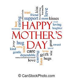 概念, 単語, 母の日, 雲, 幸せ