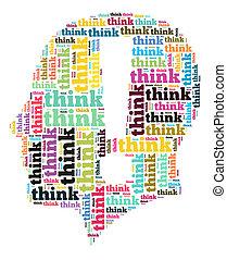 概念, 単語, 考えなさい, 雲