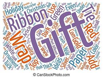 概念, 単語, 贈り物, お祝い, テキスト, 考え, 背景, 包みなさい, クリスマス, 雲