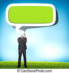 概念, 単語, 雲, ビジネス