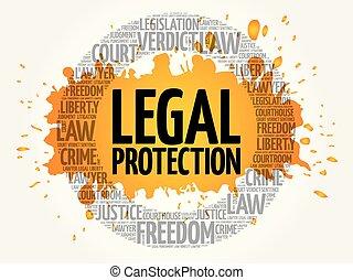 概念, 単語, 雲, 保護, 法的