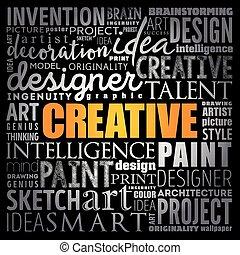 概念, 単語, 雲, 創造的