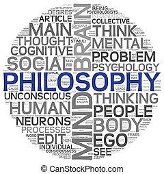 概念, 単語, 雲, 哲学, タグ