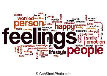 概念, 単語, 雲, 感情