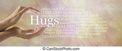 概念, 単語, 雲, 抱擁