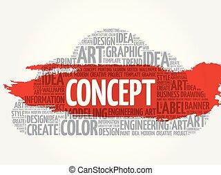 概念, 単語, 雲