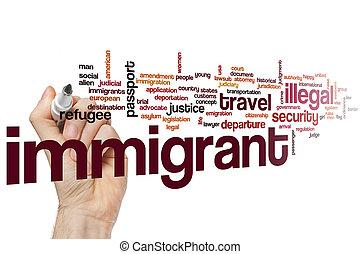 概念, 単語, 雲, 移民