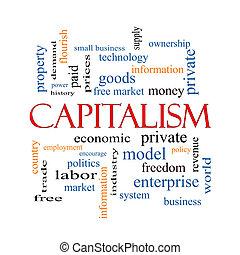 概念, 単語, 雲, 資本主義