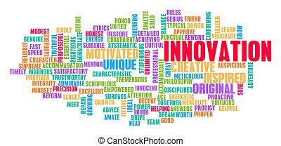概念, 単語, 雲, 革新